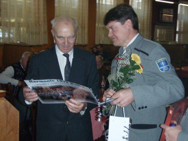 Oslava 90. narozenin tubisty Karla Pešky
