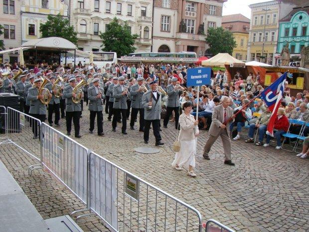 Festival Kmochův Kolín průvod městem